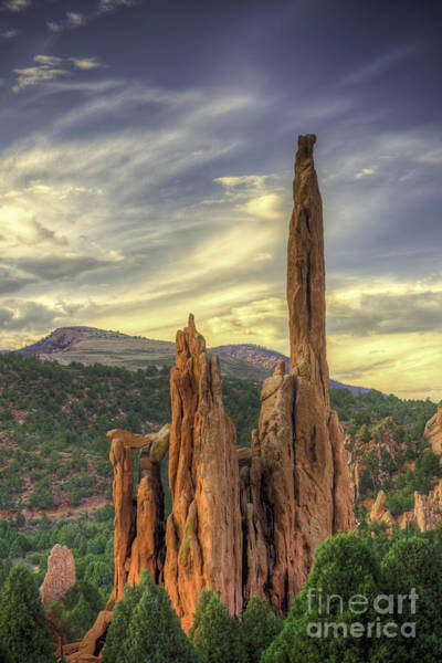 Photograph - Near Sunset Garden Of The Gods by David Waldrop