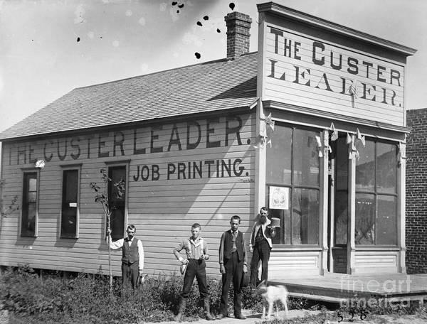 Wall Art - Photograph - Nebraska: Printing Office by Granger