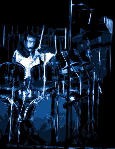 Photograph - Blue Drums by Ben Upham