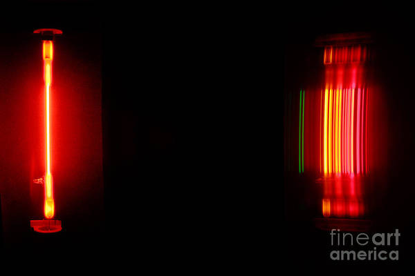 Grating Wall Art -  - Neon Spectra by Ted Kinsman