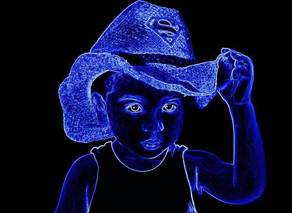 Photograph - Neon Super Cowboy by Sheila Kay McIntyre