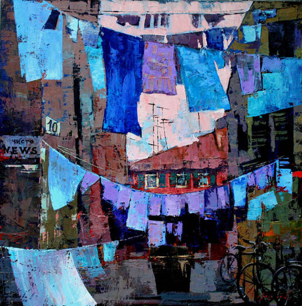 Wall Art - Painting - Net News by Anastasija Kraineva