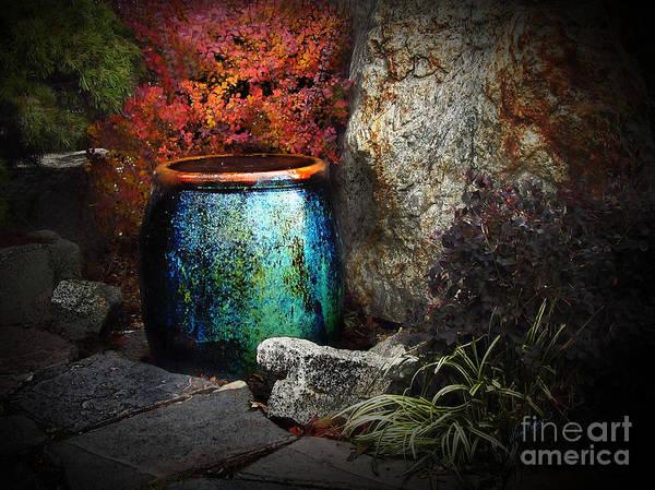 Digital Art - Nevada City Fountain by Lisa Redfern