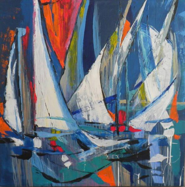 Caribbean Wall Art - Painting - New Boats by Jan Farara