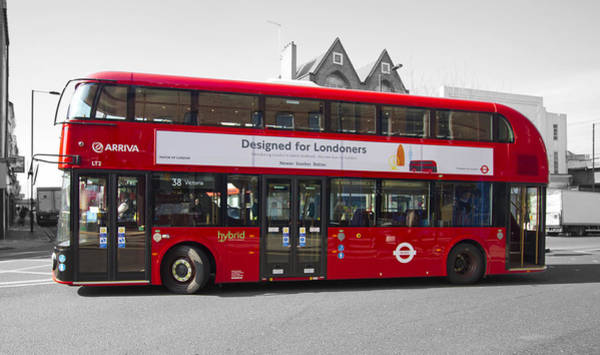 Arriva Photograph - New London Red Bus by David French