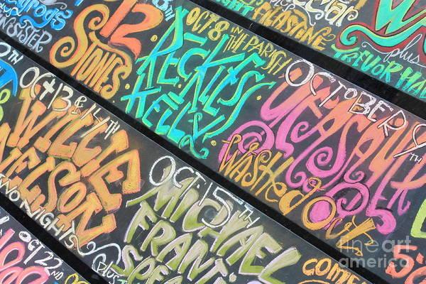 Wall Art - Photograph - New Orleans Chalkboard Billboard by Carol Groenen