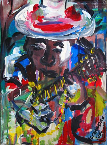 Jazz-funk Painting - New Orleans Jazz Guitar Player by Alexandra Jordankova