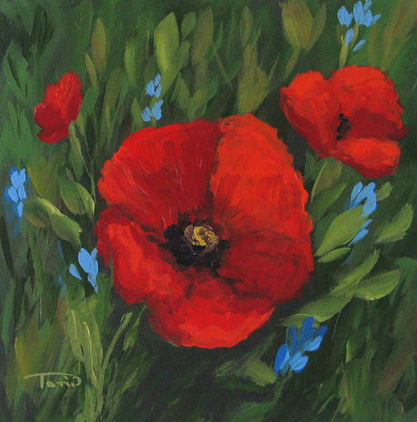 Wall Art - Painting - New Year Poppies by Torrie Smiley