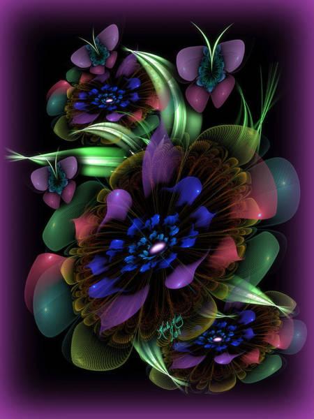 Digital Art - New Year's Bouquet by Karla White