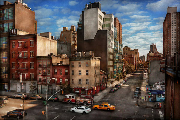 Greenwich Village Photograph - New York - City - Greenwich Village - The Corner Of 10th Ave And W 18th St  by Mike Savad