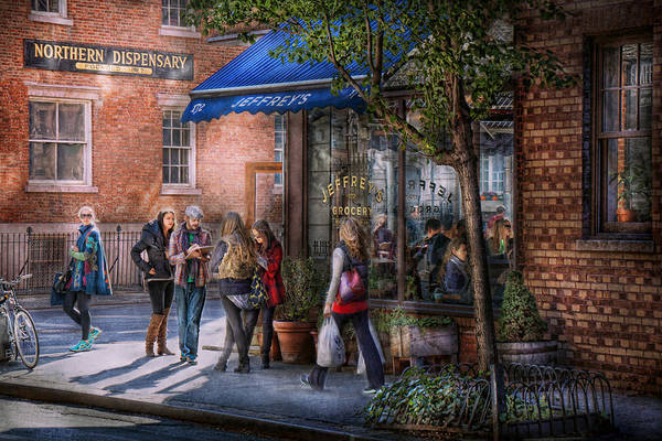 Photograph - New York - Store - Greenwich Village - Jefferey's  by Mike Savad