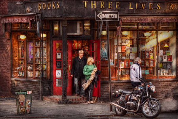Photograph - New York - Store - Greenwich Village - Three Lives Books  by Mike Savad