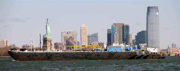 Photograph - New York And The Barge by Alice Gipson