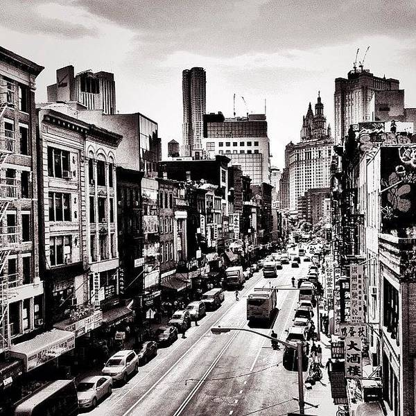 New York City - Above Chinatown Art Print