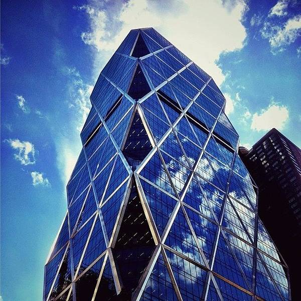 Skyscraper Photograph - New York City - The Hearst Tower by Vivienne Gucwa