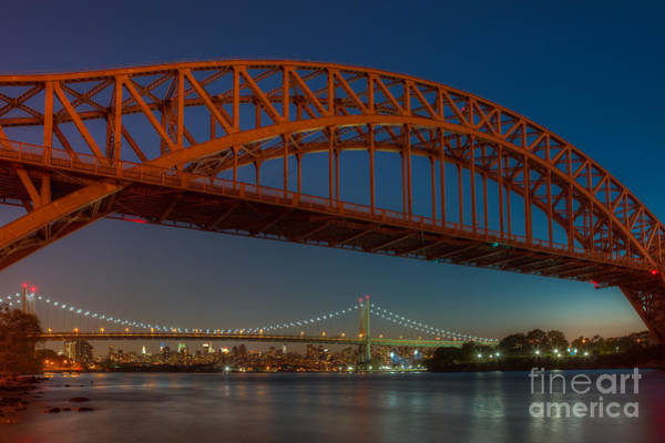 Photograph - New York City Hell Gate Bridges I by Clarence Holmes