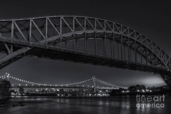 Photograph - New York City Hell Gate Bridges II by Clarence Holmes