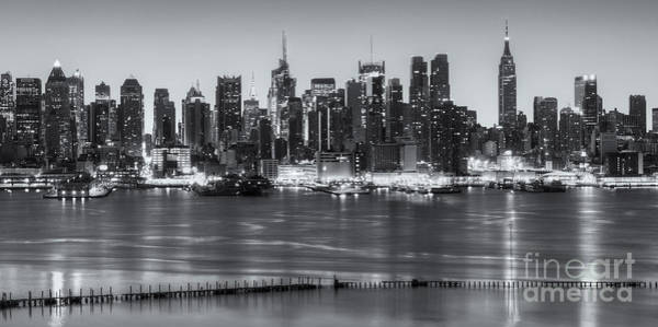Photograph - New York City Skyline Morning Twilight X by Clarence Holmes