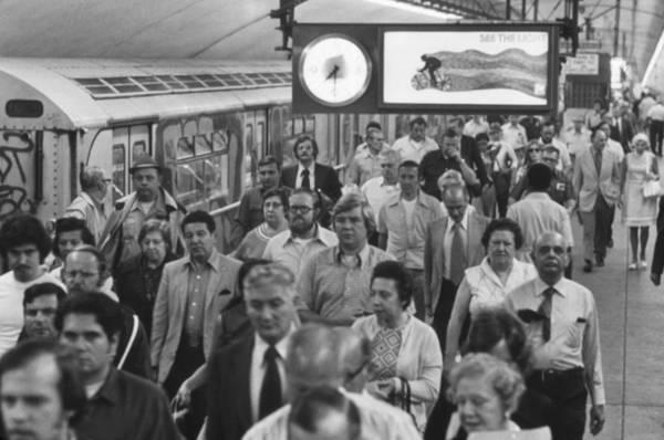 Wall Art - Photograph - New York City Subway. Passengers by Everett