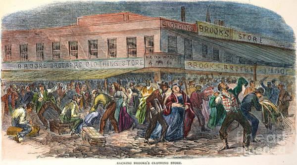 1863 Photograph - New York: Draft Riots 1863 by Granger