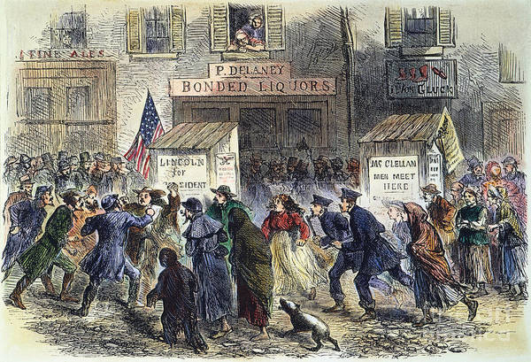 Poll Photograph - New York: Election, 1864 by Granger