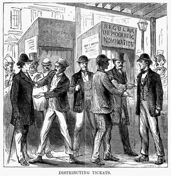 Poll Photograph - New York: Election Of 1870 by Granger