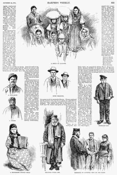 Italian Immigrants Wall Art - Photograph - New York: Immigrants, 1891 by Granger