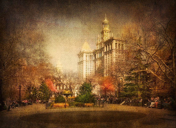 Speed Mixed Media - New York In April by Svetlana Sewell