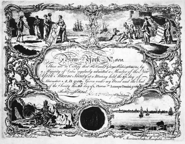 Membership Photograph - New York Marine Society by Granger