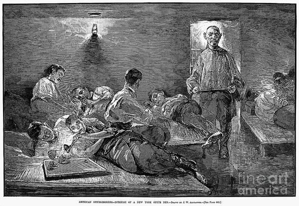 New York: Opium Den, 1881 Art Print