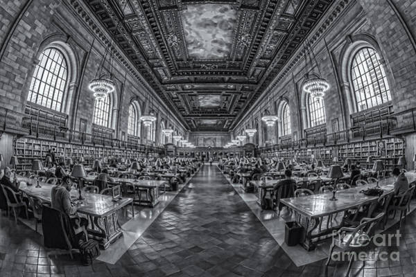 Photograph - New York Public Library Main Reading Room Iv by Clarence Holmes