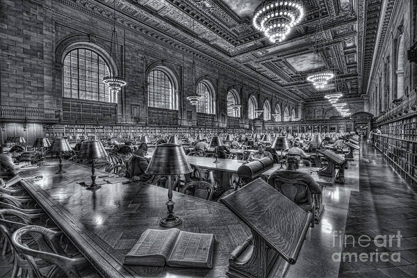 Photograph - New York Public Library Main Reading Room Vi by Clarence Holmes
