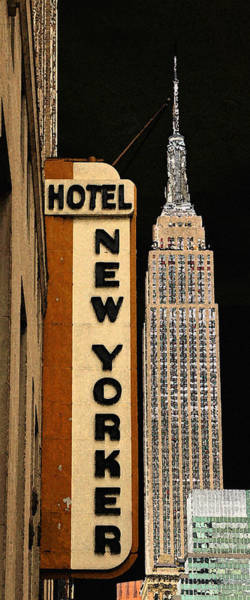 Photograph - New York Watercolor 2 by Andrew Fare