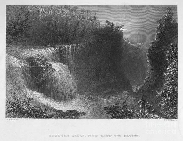 Photograph - New York: Waterfall, 1837 by Granger
