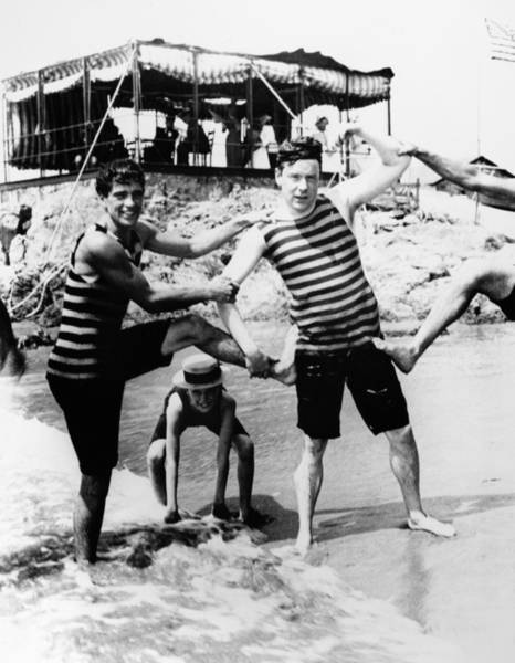 Photograph - Newport: Bathers, C1895 by Granger