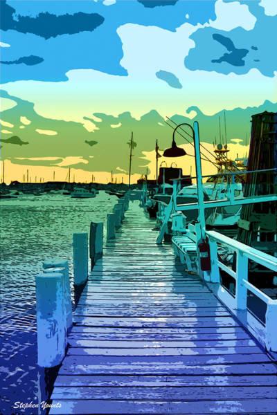Rhode Island Digital Art - Newport Docks by Stephen Younts