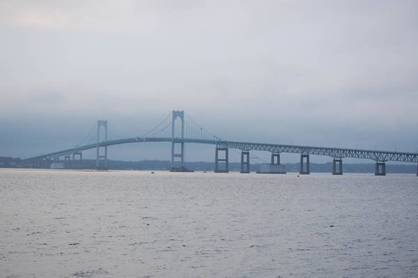 Photograph - Newport Ri Claiborne Pell Bridge by Mary McAvoy