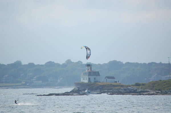 Photograph - Newport Ri Kitesurfing by Mary McAvoy