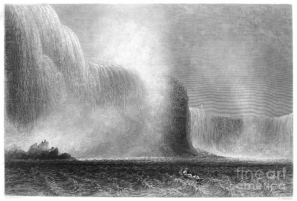 Photograph - Niagara Falls, 1838 by Granger