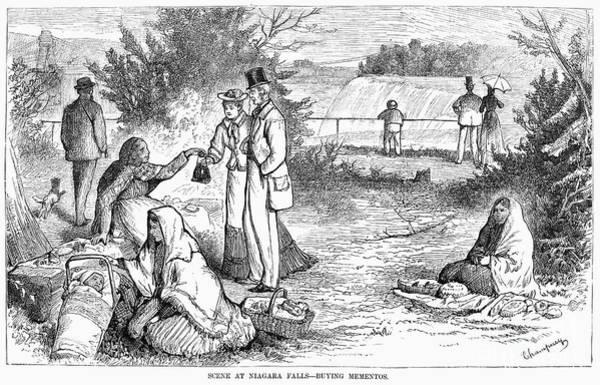 Photograph - Niagara Falls, 1877. For Licensing Requests Visit Granger.com by Granger