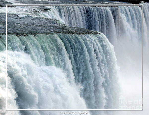 Photograph - Niagara Falls Closeup American Side by Rose Santuci-Sofranko