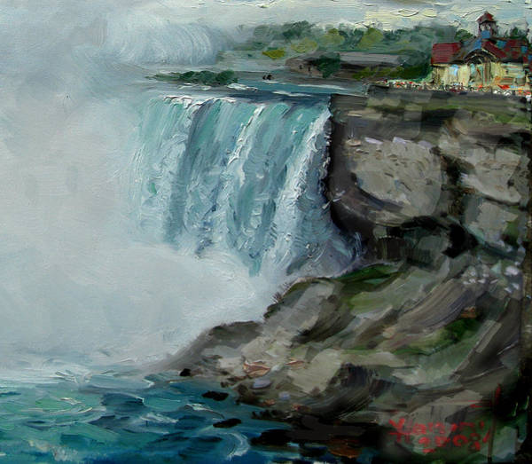 Wall Art - Painting - Niagara Falls Rocks by Ylli Haruni