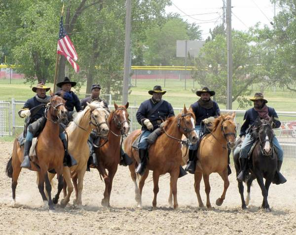 Photograph - Nicodemus Buffalo Soldiers 1 by Keith Stokes