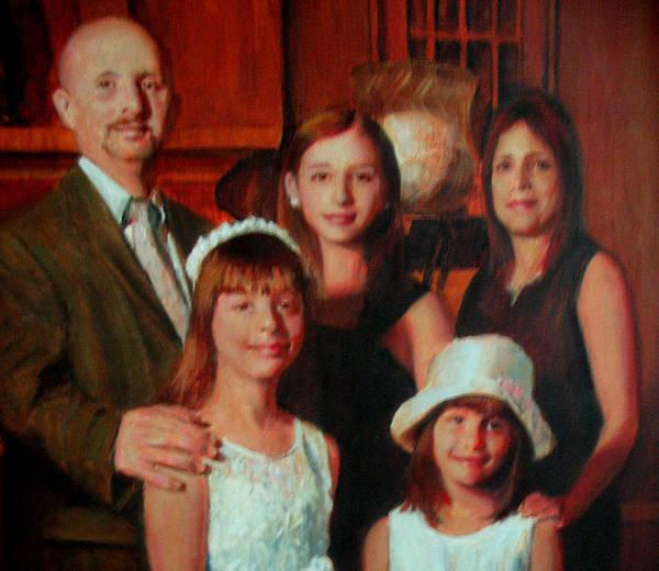 Wall Art - Painting - Nieves Family Portrait by Berto Ortega