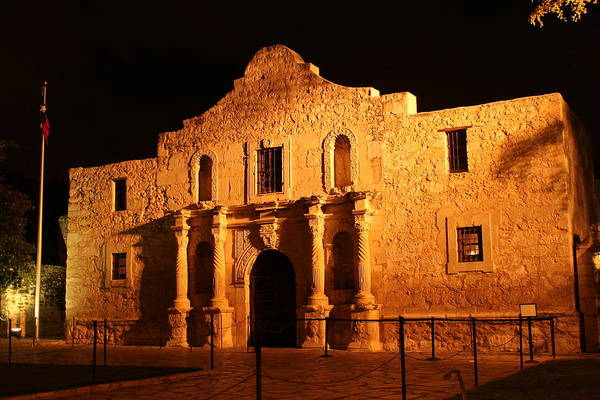Photograph - Night At The Alamo by Sarah Broadmeadow-Thomas