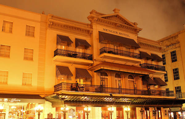 Photograph - Night At The Menger Hotel by Sarah Broadmeadow-Thomas