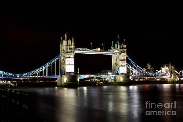 Wall Art - Photograph - Night Image Of The River Thames And Tower Bridge by David Pyatt
