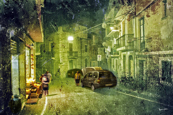 Wall Art - Photograph - Night Scene In Sicily 2 by Madeline Ellis