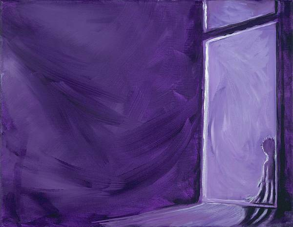 Wall Art - Painting - Night Time by David Junod