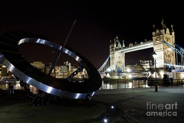 Wall Art - Photograph - Night View Of The Thames Riverbank by David Pyatt